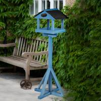 Elgin Wooden Bird Table Painted In Blue