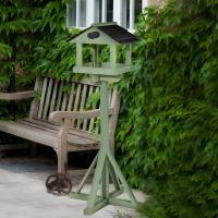 Elgin Wooden Bird Table Painted In Green