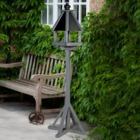 Elgin Wooden Bird Table Painted In Grey