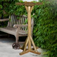 Flat Top Rustic Bird Table